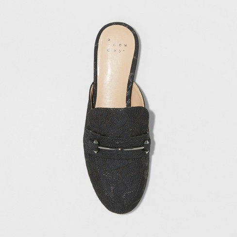 ee14e00eb83 Women s Remy Jacquard Backless Loafer Mules - A New Day™ Black 7.5 ...