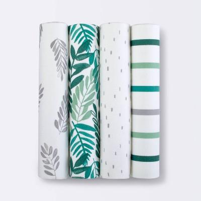 Flannel Baby Blanket - Cloud Island™ Green 4pk