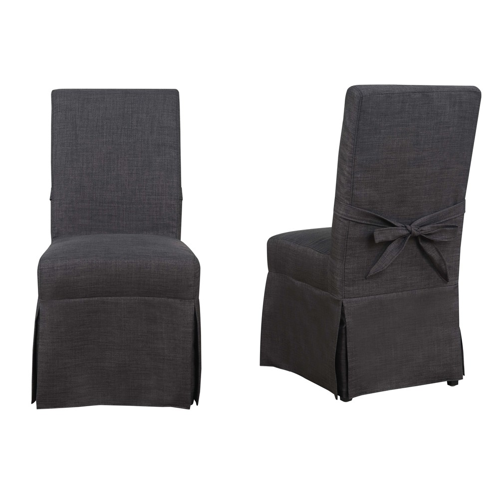 Set of 2 Margo Dining Room Parsons Chair Charcoal (Grey) - Picket House Furnishings