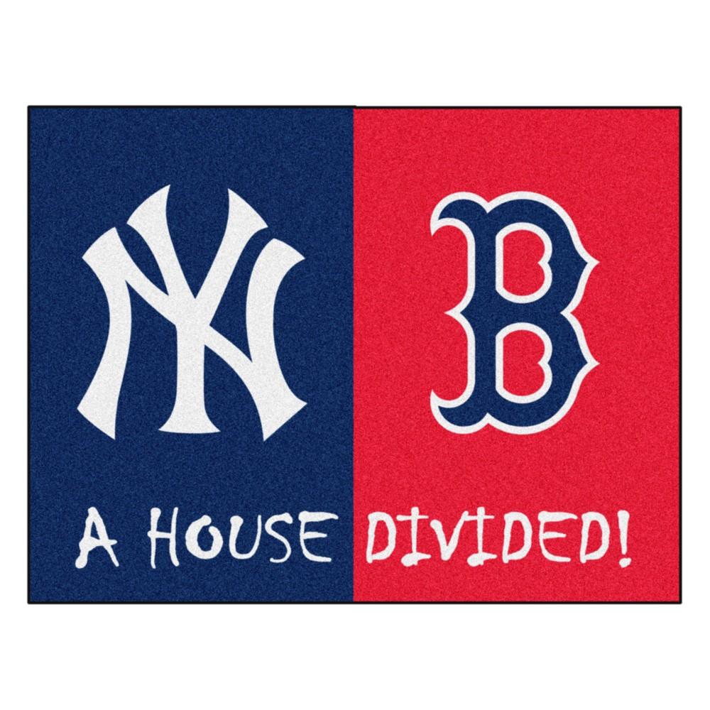 MLB Boston Red Sox/New York Yankees House Divided Rug 33.75