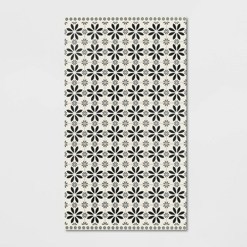Peachy Vintage Tile Vinyl Floor Mat Threshold Download Free Architecture Designs Sospemadebymaigaardcom