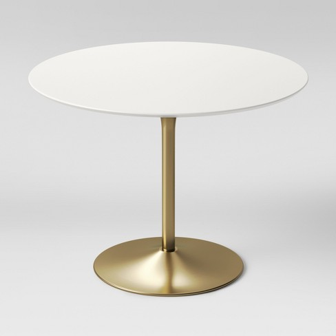Pleasing Braniff Round Dining Table Metal Base Brass Project 62 Interior Design Ideas Tzicisoteloinfo