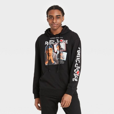 Men's Tupac Poetic Justice Hooded Sweatshirt - Black