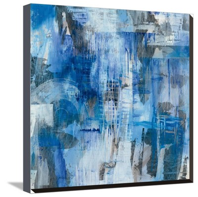 Industrial Blue By Melissa Averinos Stretched Unframed Wall Canvas Print 20 x20  - Art.com