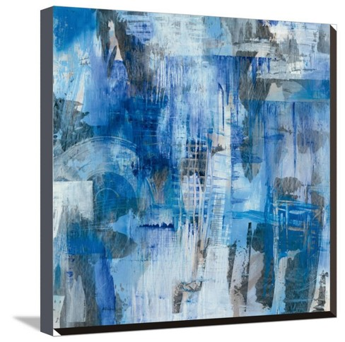Industrial Blue by Melissa Averinos Stretched Canvas Print - Art.com - image 1 of 4