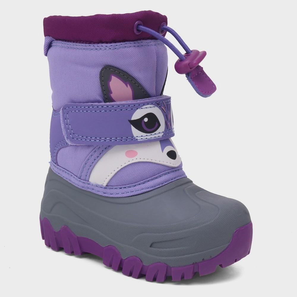 Toddler Girls' Leva Racoon Winter Boots - Cat & Jack Purple 7