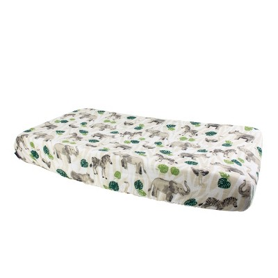 Bebe au Lait Muslin Changing Pad Cover Jungle