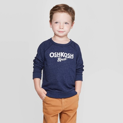 OshKosh B'Gosh Toddler Boys' Logo Long Sleeve Pullover Sweater - Navy - image 1 of 3