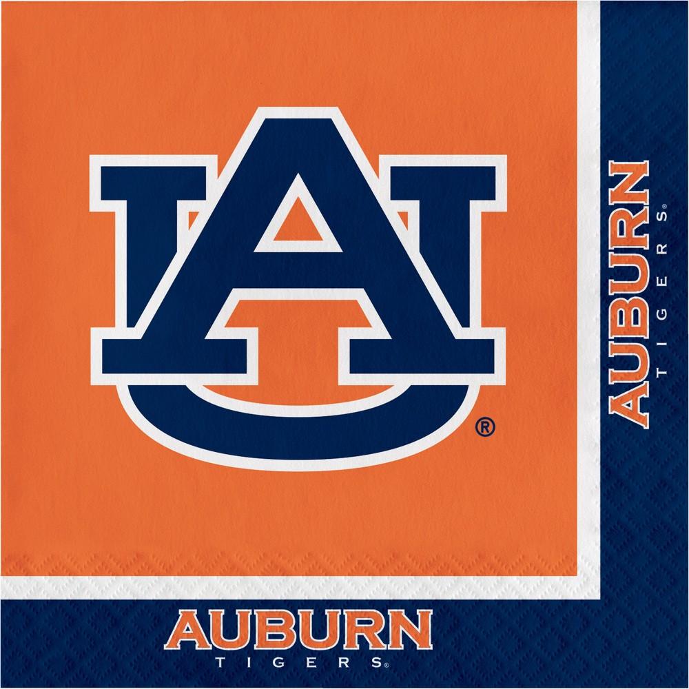 Image of 20ct Auburn Tigers Napkins