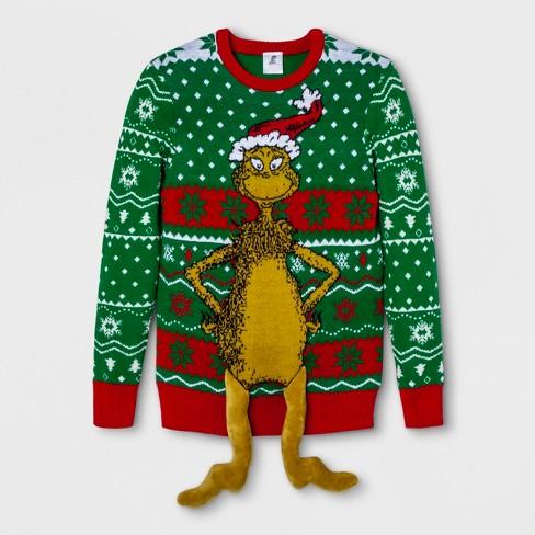 Mens Dr Seuss Grinch Long Sleeve Sweatshirt Kickin Green Target