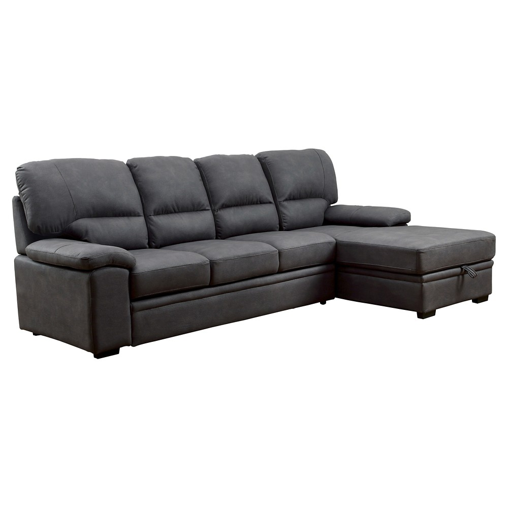 Image of Samson Modern Style Pullout Sleeper Sofa Graphite - miBasics, Gray