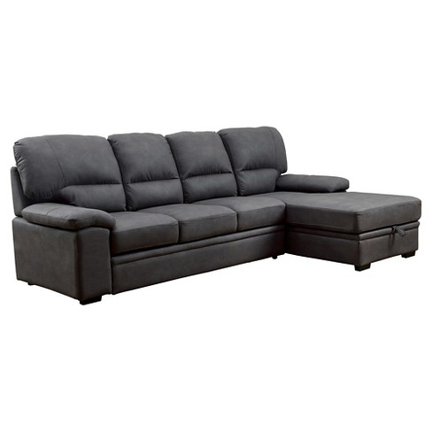 Astounding Samson Modern Style Pullout Sleeper Sofa Graphite Mibasics Caraccident5 Cool Chair Designs And Ideas Caraccident5Info