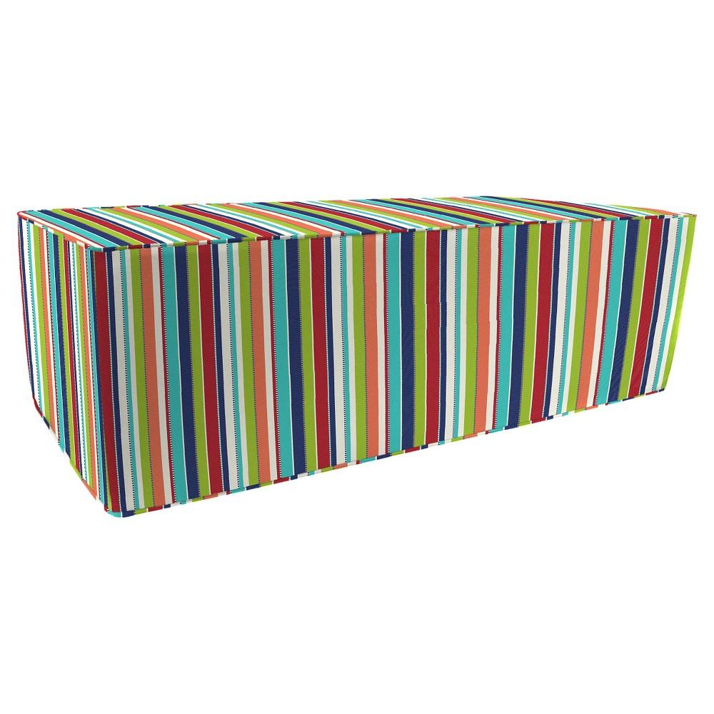 Prime Jordan Patio Ottoman Brown Stripes Squirreltailoven Fun Painted Chair Ideas Images Squirreltailovenorg