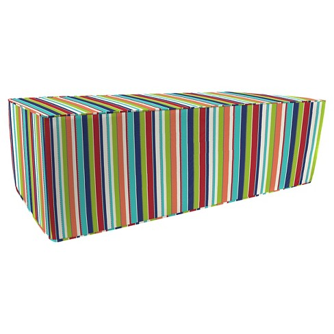 Jordan Patio Ottoman - Brown stripes - image 1 of 1