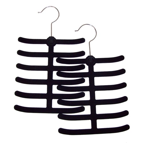 Huggable Hangers 2pc Tie and Belt Hangers - Black