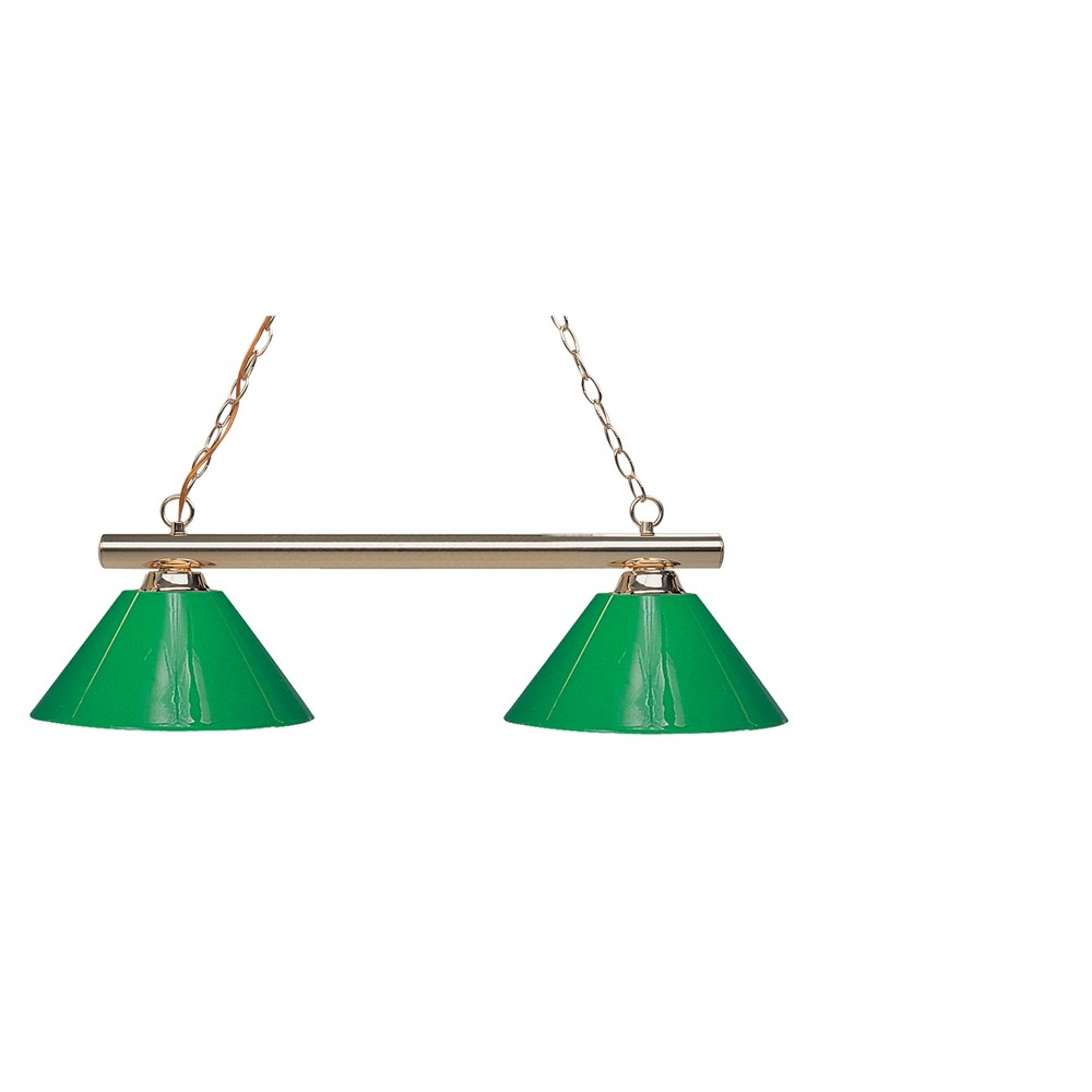 Billiard Ceiling Lights with Green Glass (Set of 2) - Z-Lite