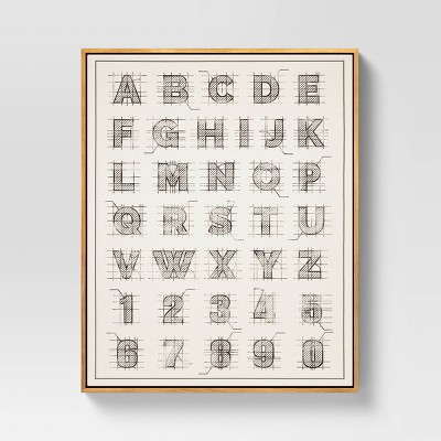 "24"" x 30"" ABC Framed Wall Art Brown/Black - Threshold™"