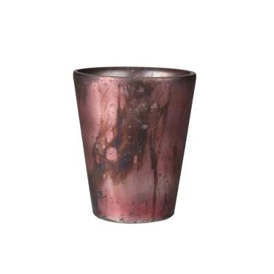 "Kaemingk 4"" Mauve Purple Antique Glass Christmas Tea Light or Votive Candle Holder"