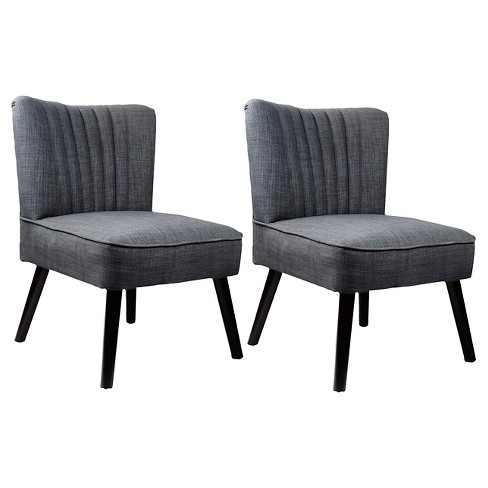 2 Piece Antonio Accent Chair In Woven Gray - CorLiving - image 1 of 1
