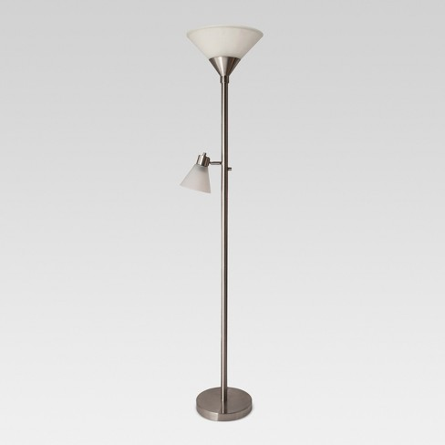 Mother Daughter Floor Lamp Brushed Nickel Lamp Only