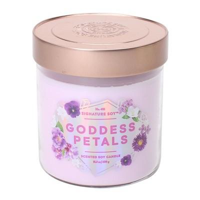 15.2oz Lidded Glass Jar 2-Wick Candle Goddess Petals - Signature Soy