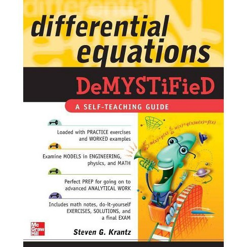 Differential Equations Demystified - by  Steven G Krantz (Paperback) - image 1 of 1
