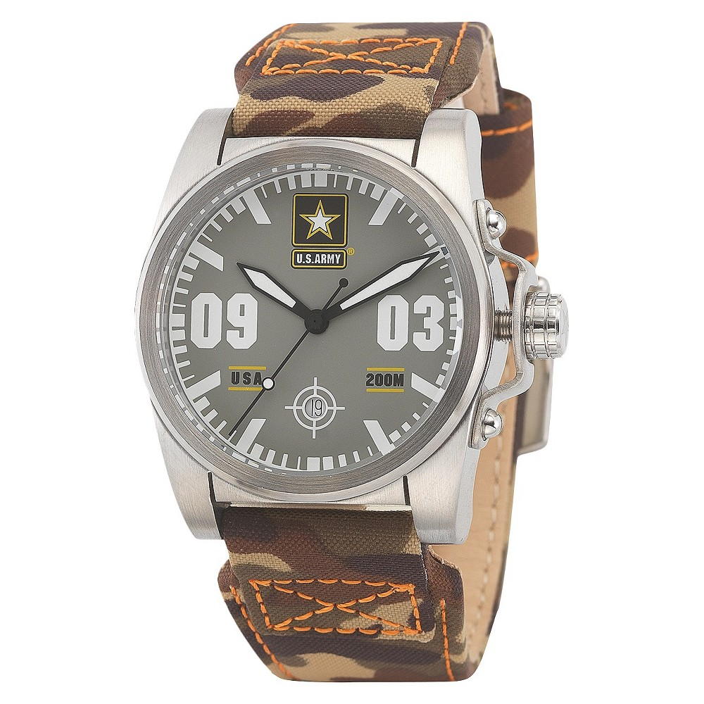 Men's' Wrist Armor U.S. Army C1 Swiss Quartz Watch - Gray, Size: Small