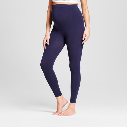 Maternity Seamless Footless Tight Belly Leggings - Isabel Maternity by Ingrid & Isabel™ Indigo - image 1 of 2