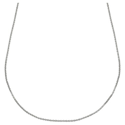"Women's Crystal Like Chain in Sterling Silver - Gray (24"") - image 1 of 1"