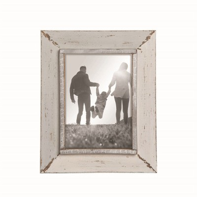Gray and Cream Distressed Wood 5 x 7 inch Decorative Wood Picture Frame - Foreside Home & Garden
