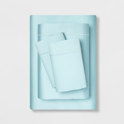 Full 400 Thread Count Cotton Performance Sheet Set Aqua - Opalhouse™