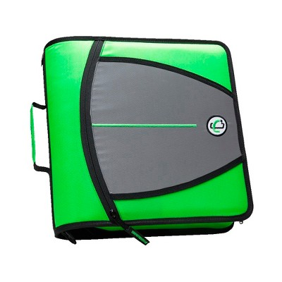 Case-it Mighty Zip Tab O-Ring Binder, Green, 3 Inches