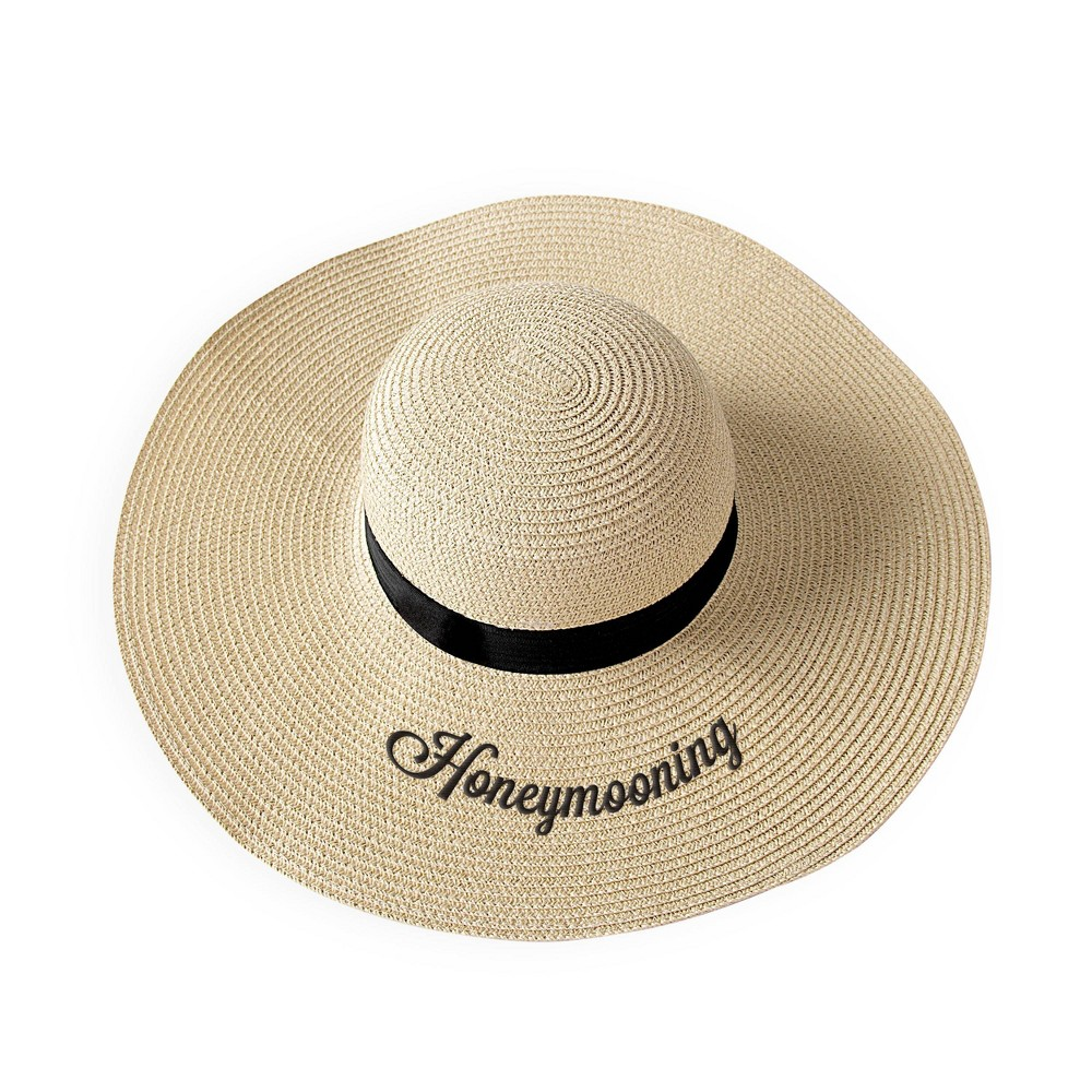 "Image of """"""Honeymooning"""" Natural Sun Tan Hat, Women's, Size: One Size, Beige"""