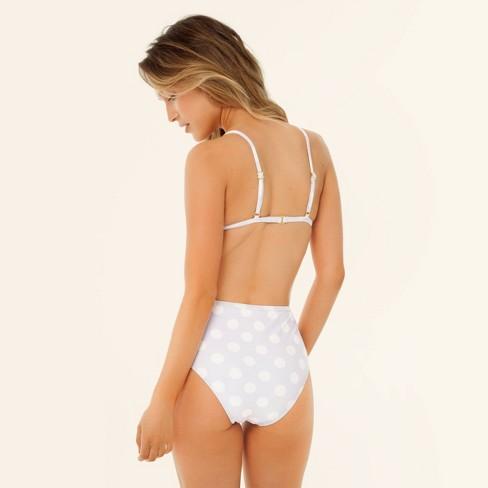 ad125c73e92e7 Women's High Waist Bikini Bottom - Sugar Coast by Lolli Lavender/White Dot.  Shop all Sugar Coast by Lolli