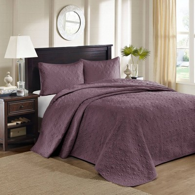 Vancouver Full 3pc Reversible Bedspread Set Purple