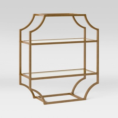 Metal/Glass Wall Cabinet Brass - Opalhouse™