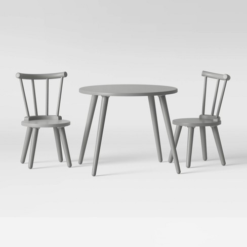 Surprising Delta Children Homestead Table And Chair Set 3Pc Gray Frankydiablos Diy Chair Ideas Frankydiabloscom