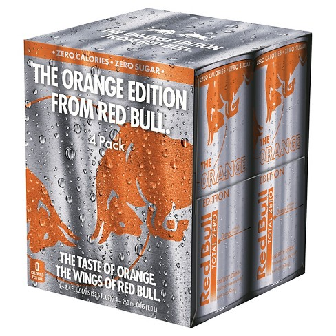 Red Bull Tropical Orange Energy Drink - 4pk/8.4 fl oz Cans - image 1 of 1