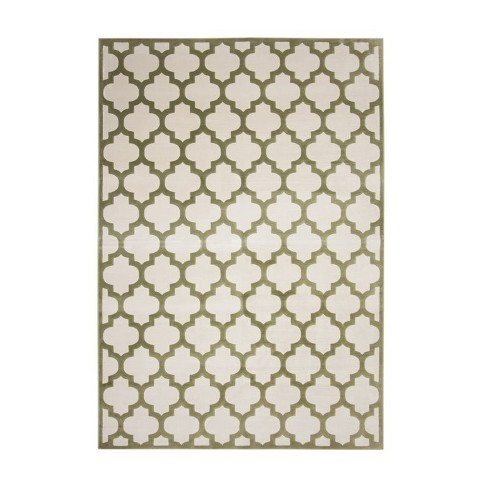 Abacasa Sonoma Trellis Apple Green-Ivory 5x8 Area Rug - Sam's International - image 1 of 1
