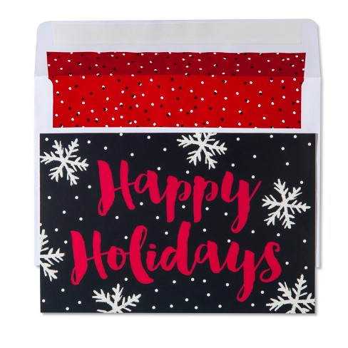 American greetings 40ct happy holidays with snowflakes holiday boxed about this item m4hsunfo