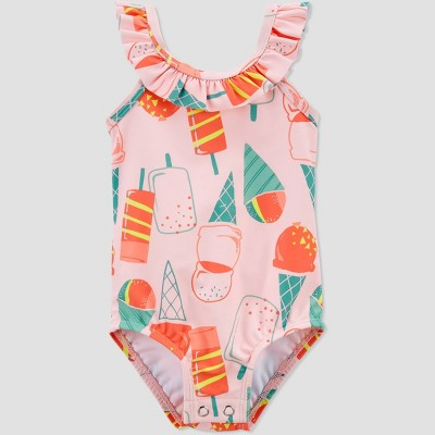 Baby Girls' Popsicle Ruffle One Piece Swimsuit - Just One You® made by carter's Pink 3M