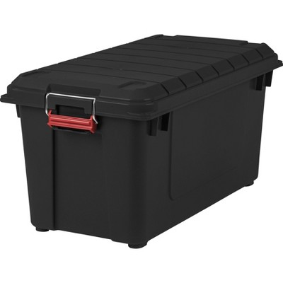 IRIS 82qt Remington Weather Tight Storage Tote Black