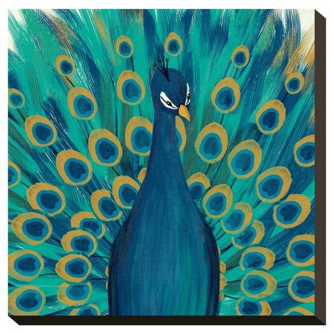 Proud As A Peacock I By Veronique Charron Stretched Canvas Print - image 1 of 2