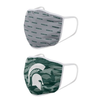 NCAA Michigan State Spartans Adult Face Covering 2pk
