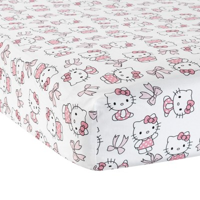 Bedtime Originals Hello Kitty Luv Fitted Crib Sheet