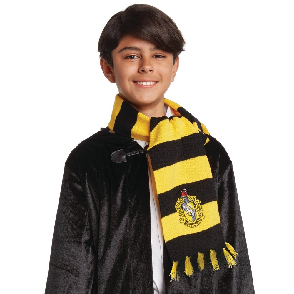 Image of Halloween Harry Potter Hufflepuff Halloween Costume Scarf, Adult Unisex, Yellow