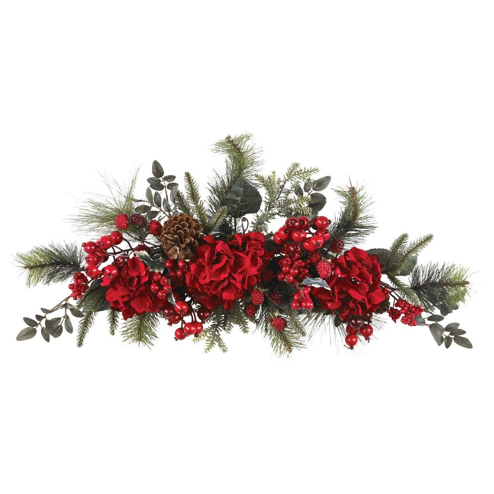 30 Holiday Hydrangea Swag Nearly Natural