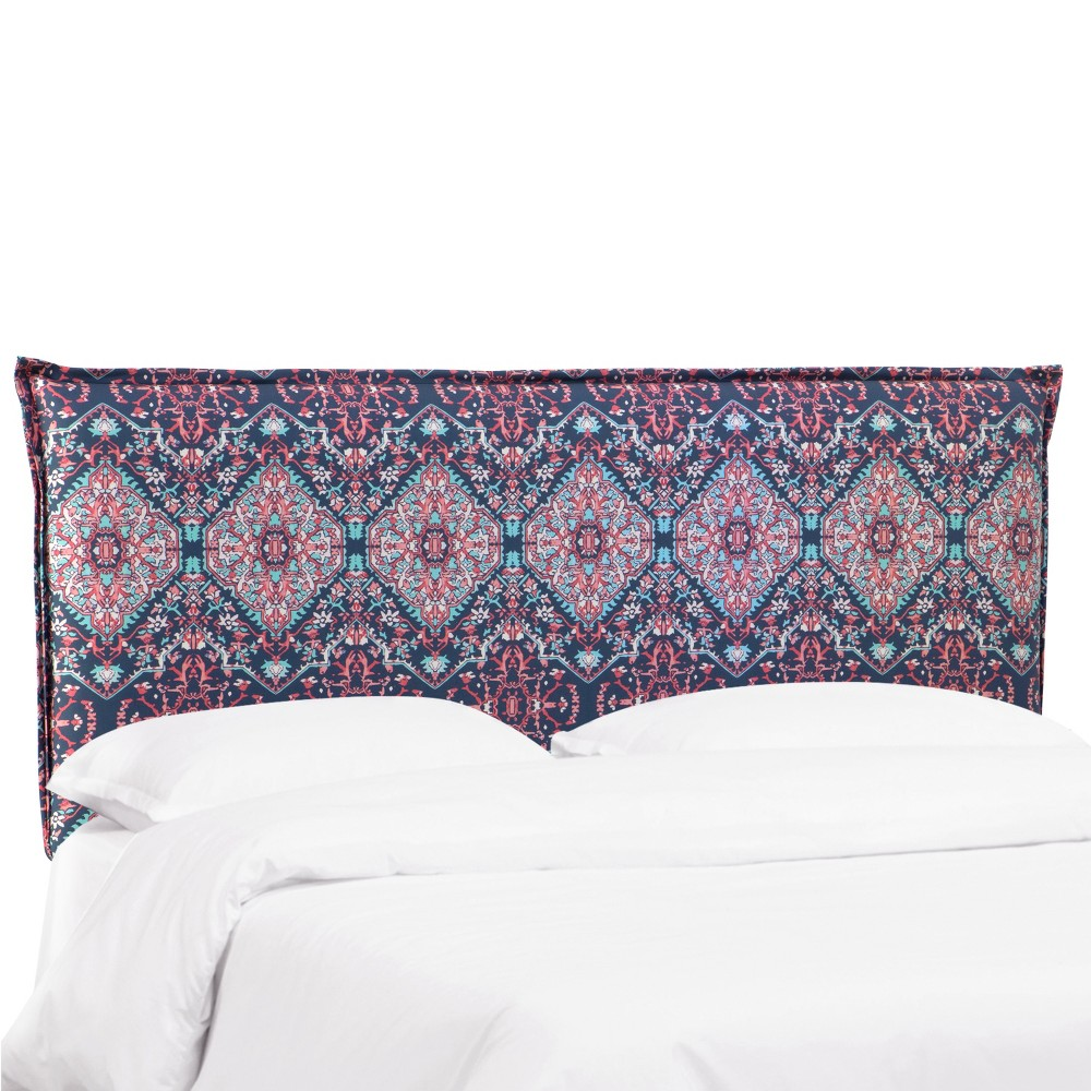 Twin Bailey French Seam Headboard Pink/Navy Print - Cloth & Co.