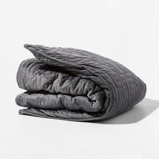 25lb Weighted Gravity Bed Blanket Gray - Gravity