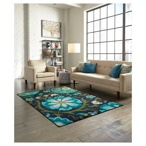 Maples Floral Area Rug - Blue (7\'X10\')